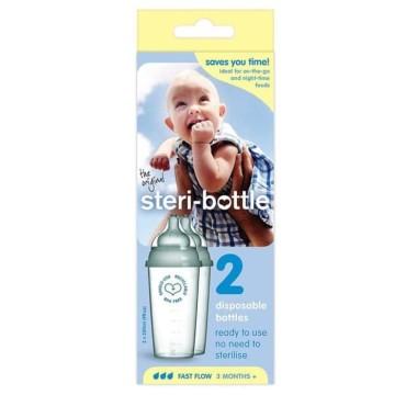Steri Bottle Disposable Milk Bottle - 2pcs 250ml Botol Susu Sekali Pakai image