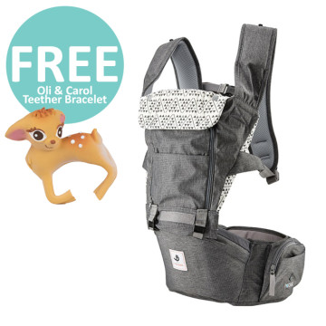 Pognae All New No.5 Waterproof Outdoor Hipseat Carrier Grey image