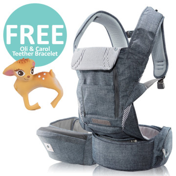 Pognae No 5 Plus Hipseat and Baby Carrier | Denim Grey image