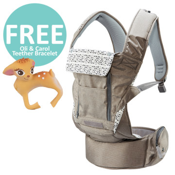 Pognae No 5 Plus Hipseat and Baby Carrier | Mocha image