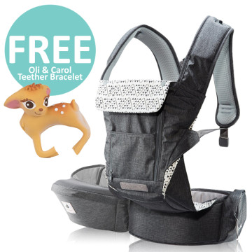 Pognae No 5 Plus Hipseat and Baby Carrier | Grey image