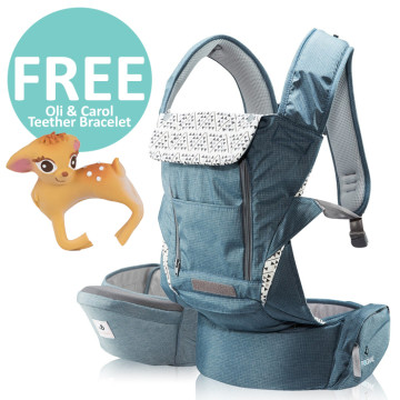 Pognae No 5 Plus Hipseat and Baby Carrier | Blue image
