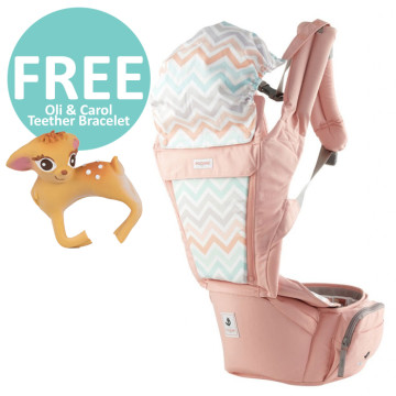 Pognae Orga Plus Hipseat and Baby Carrier - Peach image