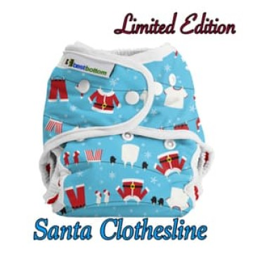 Best Bottom Cover Snap - Santa Clothesline (Limited Edition) Diaper Popok Kain image