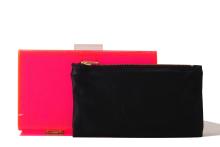Neon Perspex Clutch - Pink