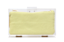 Basic Perspex Clutch - Yellow