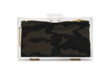 Basic Perspex Clutch - Camouflage