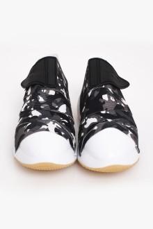 Grey Camo Strap Shoes