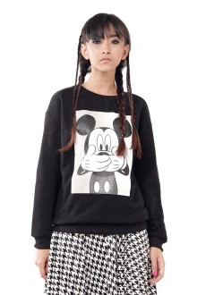 Unisex Black Mickey BW Sweatshirt