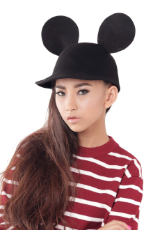 Black Mickey Felt Hat