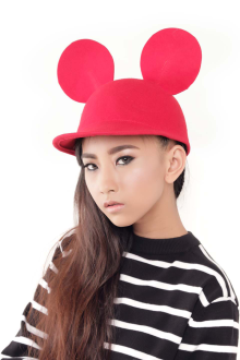 Red Mickey Felt Hat