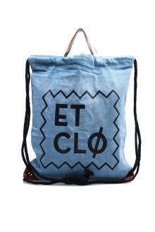 Unisex Blue ETCLO Tote/Sack Bag