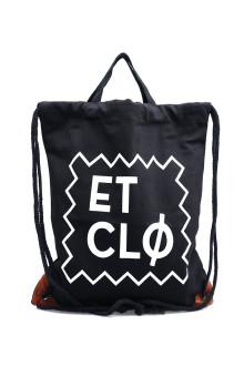 Unisex Black ETCLO Tote/Sack Bag
