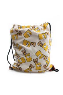 White Bart Simpson Sack Bag