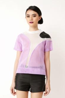 Purple Art Netted Top