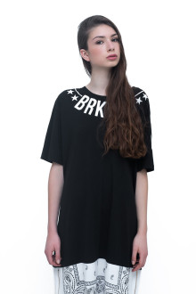 Unisex Black BRKLYN 53 Long Tees