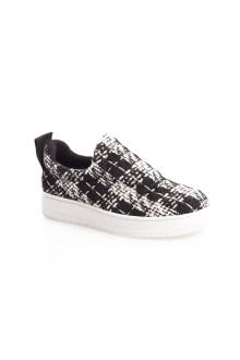 Tweed Pattern Sneakers