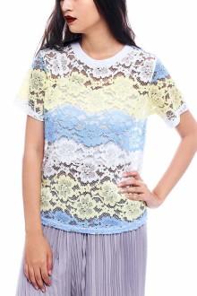Tricolor Pastel Top