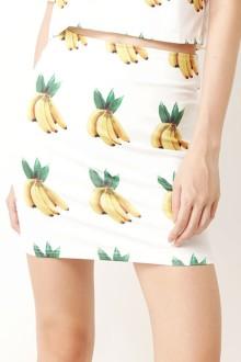 White Banana Skirt
