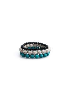 Turqoise Marble Bracelet Set