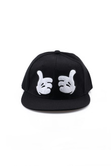 Black Two Thumbs Up Snapback