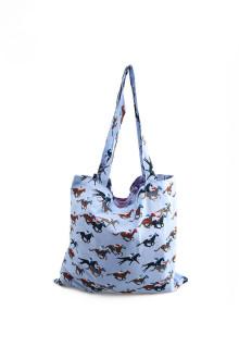 Blue Polo Rider Tote Bag