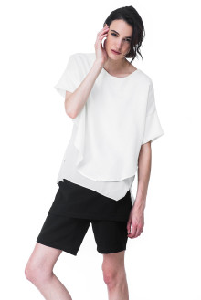 White Two Layer Loose Top