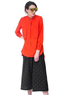 Orange Big Pocket Shirt