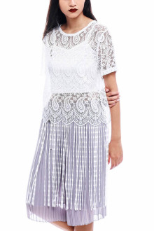 White Jellyfish Lace Top