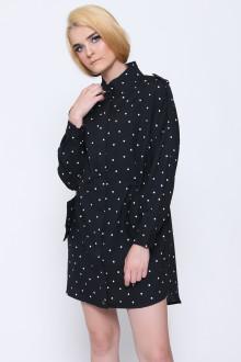 Black Polkadot Zipper Shirt