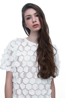 White Hexagon Net Dress