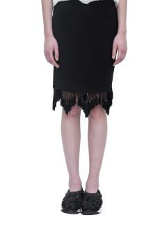 Black Tassle Pencil Skirt