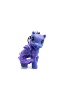 Purple Little Pony Key Chain