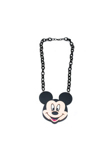 Black Mickey Chain Necklace