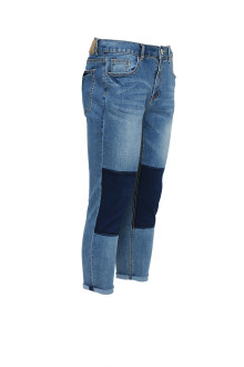 Blue Block Skinny Jeans