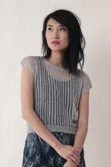 Silver Yarn Knit Top