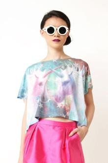 Blue Unicorn Multicolor Top