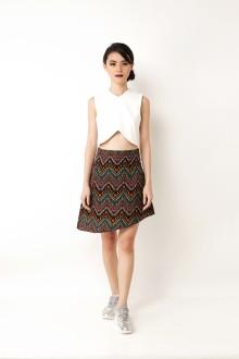 Tribal Asymmetric Skirt