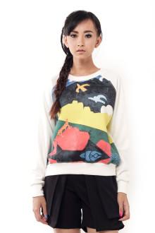 White Bird Painting Sweatshirt