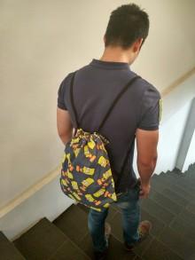 Blue Bart Simpson Sack Bag