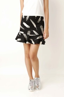 Black Feather Mermaid Skirt