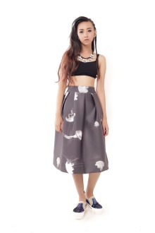 Black Jellyfish Neoprene Skirt