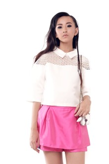 White Crochet Shoulder Top