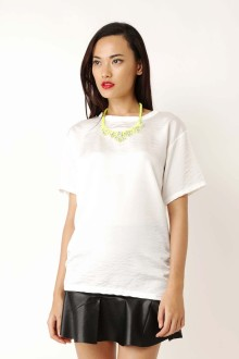 White Sateen Washed Top