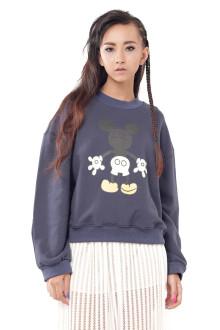 Navy Mickey Sexy Back Sweatshirt