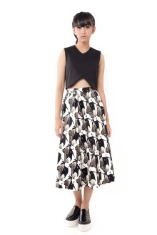 Faux Leather 3D Skirt