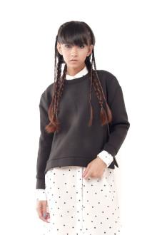 Black Neoprene Side Zip Top