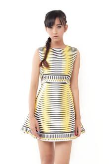 Yellow Optic Stripe Dress