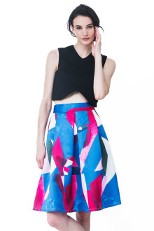 Blue and Pink Picasso skirt