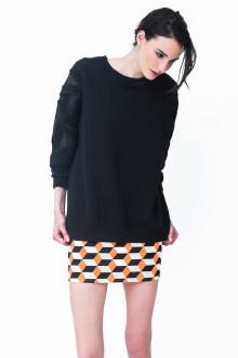 Black Quilt Bulk Sweatshirt